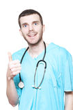 Male Surgeon Giving Thumbs Up For Good Health Royalty Free Stock Photo
