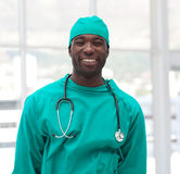 Male Surgeon in a hospital. Confident Male Surgeon in a hospital Stock Photography