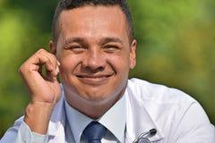 Male Surgeon Portrait. A handsome adult hispanic man Stock Images