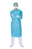 Male surgeon in scrubs uniform Stock Images