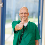 Male Surgeon Showing Thumbs Up Sign Royalty Free Stock Photos