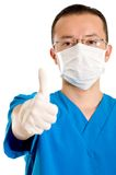 Male surgeon with thumbs up Royalty Free Stock Image