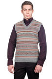 Male sweater isolated. On the white Royalty Free Stock Photos