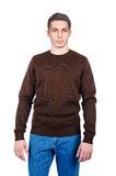 Male sweater. Isolated on the white Stock Images