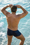 Male swimmer Royalty Free Stock Photos