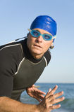 Male swimmer or triathlete Stock Photo