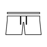 Male Swimwear isolated icon Royalty Free Stock Images