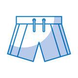 Male Swimwear isolated icon. Vector illustration design Royalty Free Stock Image