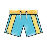Male Swimwear isolated icon. Vector illustration design Royalty Free Stock Photography