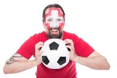 Male swiss soccer fan Royalty Free Stock Image