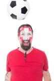 Male swiss soccer fan Royalty Free Stock Photo