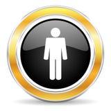 Male symbol Royaltyfria Bilder