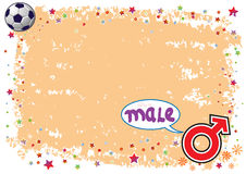 Male Symbol in Colourful Illustration Stock Photography