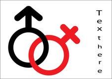 Male symbol. Female symbol Royalty Free Stock Photo