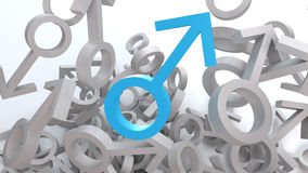 Male Symbol. Mars Symbol as sign of the male gender Royalty Free Stock Photo