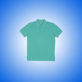 Male t-shirt against the gradient background Royalty Free Stock Photography