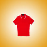 Male t-shirt against the gradient background Stock Images