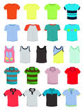 Male t-shirts. A set of mens summer t-shirts Stock Photography