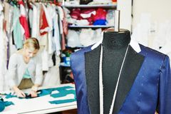 Male tailor portrait Royalty Free Stock Image