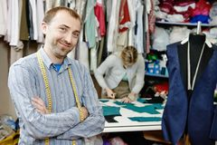 Male tailor portrait Royalty Free Stock Photos