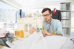 Male tailor sewing in workshop Stock Photography