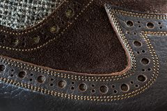 Male tango shoe. Close up detail view at male tango shoe Royalty Free Stock Image