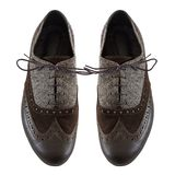 Male tango shoes. Isolated on the white Royalty Free Stock Photo