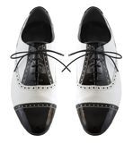 Male tango shoes. On the white Royalty Free Stock Photos