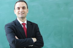 The Male Teacher in the classroom. Stock Photo