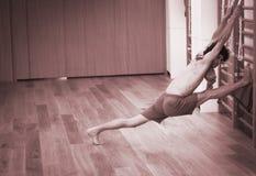 Yoga pilates wall bar training Royalty Free Stock Image