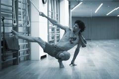 Yoga pilates wall bar training Stock Image