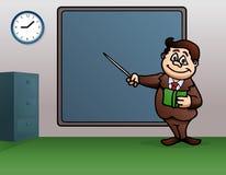 Male teacher teaching. Illustration of a male teacher teaching at work in a classroom Stock Photos