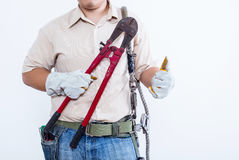 Male technician concept. Isolated on white background Stock Image