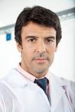 Male Technician In Laboratory. Portrait of confident male technician in laboratory Stock Photo