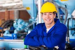 Male technician portrait. Portrait of smiling male technician Stock Photo