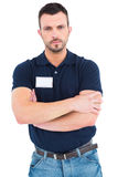 Male technician standing arms crossed Royalty Free Stock Image