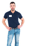 Male technician standing hands on hips Stock Image