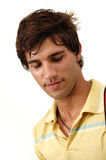 Male teen beauty. Portrait of beautiful fresh teen male with natural look Royalty Free Stock Images