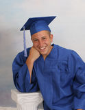 Male Teen in cap and gown Stock Photography