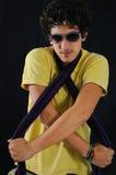 Male teen model posing. Portrait of trendy hispanic teen posing with confidence Royalty Free Stock Photos