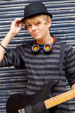 Male teen musician Royalty Free Stock Photo