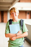 Male teen student. Portrait in school Royalty Free Stock Photo