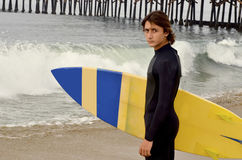 Male Teenage Surfer Stock Image