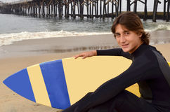 Male Teenage Surfer Stock Photography