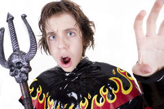 Male teenager in Halloween costume Stock Image