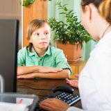 Male teenager patient Stock Photo