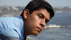 Male Teenager. A young hispanic male teenager Stock Images