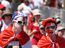 Male Teens on Canada Day Royalty Free Stock Images