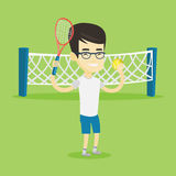 Male tennis player vector illustration. Stock Photo