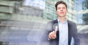 Male testing digital monitor and touchscreen Royalty Free Stock Photo